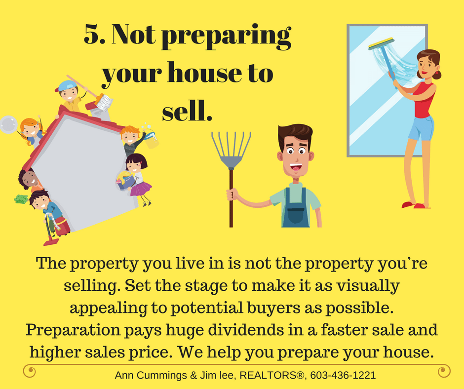 Mistake 5, Not preparing your house to sell